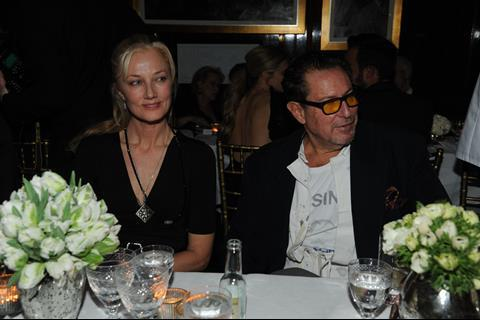 Joely Richardson and Julian Schnabel